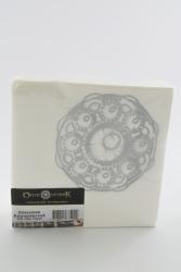 servetten zeeuwse knop wit zilver