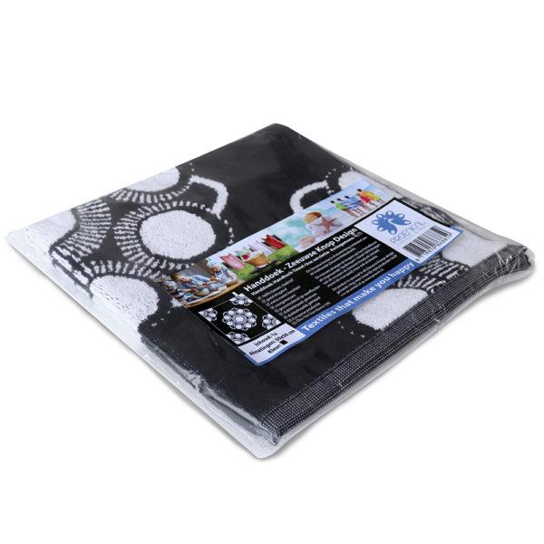 Hand keuken doek Zeeuwse knop zwart foto 3