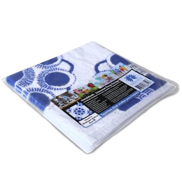 Handdoek Zeeuwse knop blauw foto 3