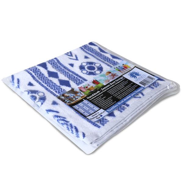 Handdoek Zeeuws schortebont blauw foto 3