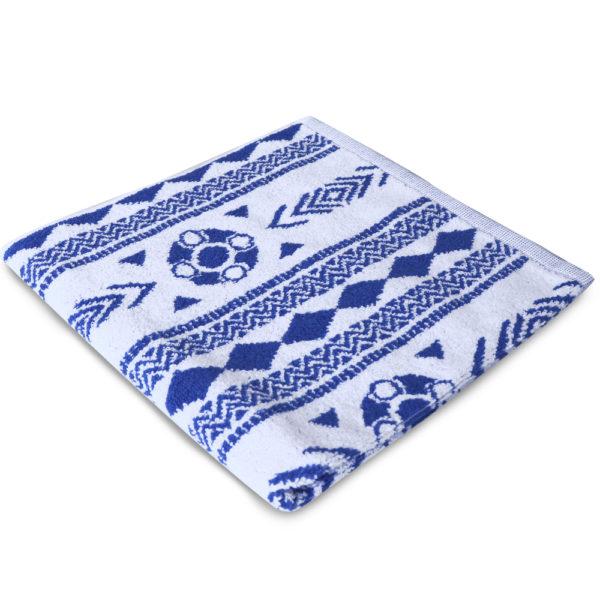 Handdoek Zeeuws schortebont blauw 2