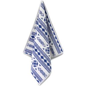 Handdoek Zeeuws schortebont blauw